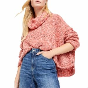 Free People BFF Cowl Neck Sweater XS NWT